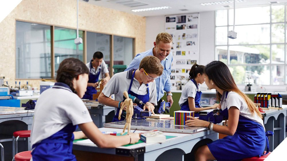 Middle Years Programme students in a design technology class