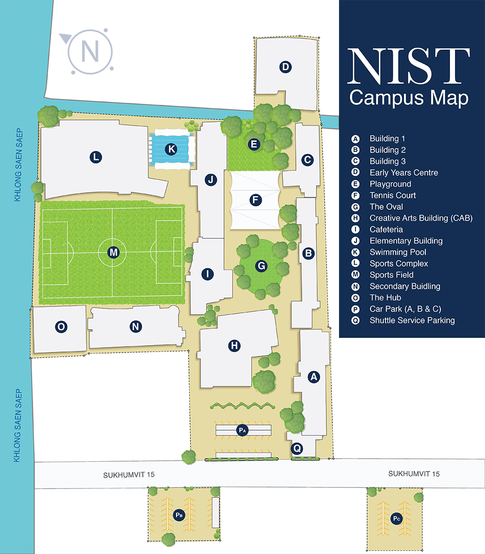NIST International School - Campus Map