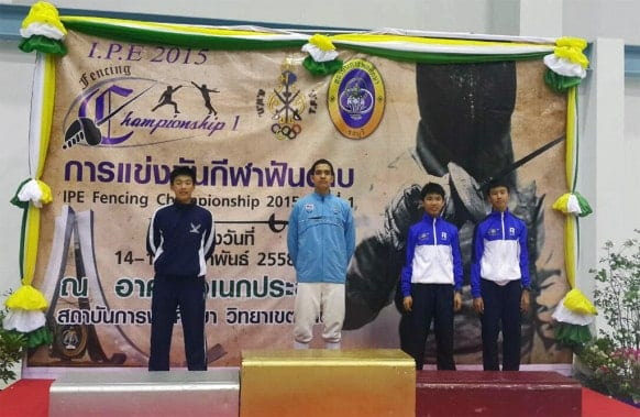 NIST 2015 IPE Fencing Tournament - Soravit Receiving the Silver Medal
