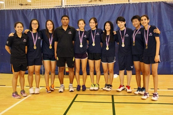 NIST 2015 BISAC U19 Girls Badminton Champions