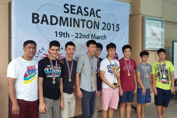 NIST 2015 SEASAC Boys Badminton Champions