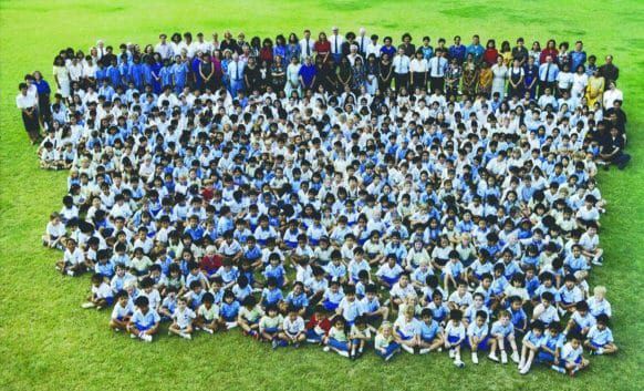 The First Students and Staff of NIST International School in Bangkok, Thaialnd