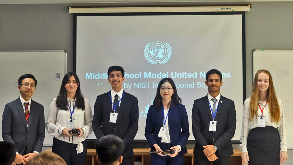 NIST Hosts Inaugural Middle School MUN Event
