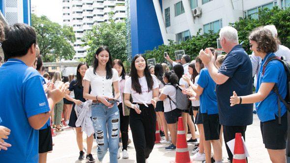 Leaving from NIST International School in Bangkok, Thailand