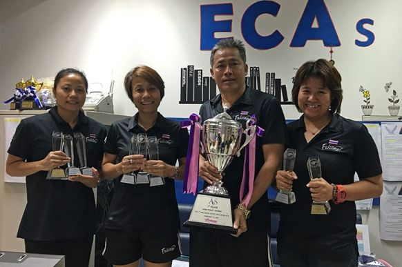 NIST Coaches with Championship Trophies