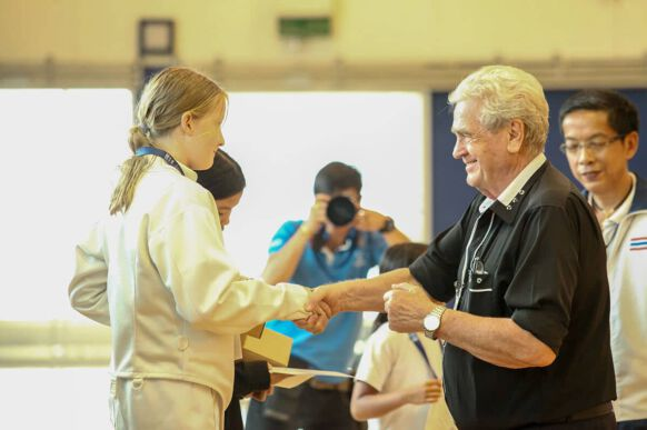 NIST Falcons Fencing Club - Grace Larkin - Bronze Medalist in Under 12s